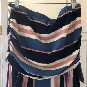 J for Justify Dresses - Super soft striped jumpsuit. Size 1X